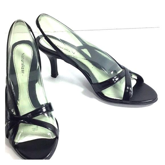 2de9e251a4b Naturalizer Black Sling Back Prissy Shoes Size 8N. NWT